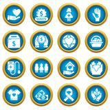 Charity icons set, simple style. Charity icons set. Simple illustration of 16 charity vector icons for web vector illustration
