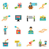 Charity Icons Set Royalty Free Stock Photos