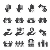 Charity icons set Stock Image
