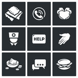 Charity icons. Vector Illustration Royalty Free Stock Image