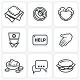 Charity icons. Vector Illustration Royalty Free Stock Images