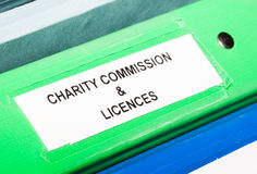 Charity licences Stock Photos