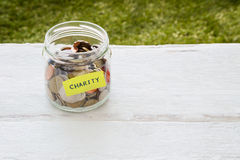 Charity money distribution Royalty Free Stock Photography