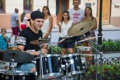 Charity music street concert Stock Photos