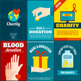 Charity posters set Royalty Free Stock Photography