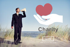 Charity Relief Support Donation Charitable Aid Concept Stock Images