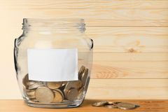 Charity and Relief Work. Fundraiser Donation Box Jar Giving Currency Coin Stock Photography