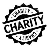 Charity rubber stamp. Grunge design with dust scratches. Effects can be easily removed for a clean, crisp look. Color is easily changed Stock Image