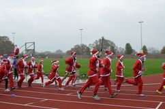 Charity Santa Race. Royalty Free Stock Images