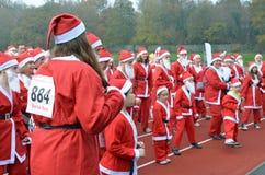 Charity Santa Race. Stock Photos