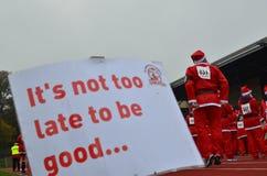 Charity Santa Race. Royalty Free Stock Image