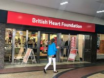 A charity shop of The British Heart Foundation stock photos