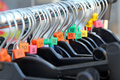 Charity shop hangers Royalty Free Stock Photography