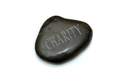 Charity stone Royalty Free Stock Image