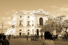 The Charity Theater in Parque Vidal, the center of the city of S stock photos