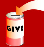 Charity Tin Royalty Free Stock Photography