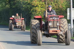 Charity Tractor Run Stock Images