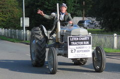 Charity Tractor Run Stock Photo