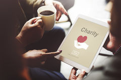 Charity Volunteer Donate Hand Symbol Concept Royalty Free Stock Photos