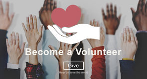 Charity Volunteer Help Aid Donate Concept royalty free stock photo