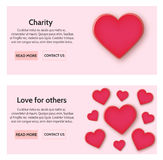 Charity web banners Stock Image