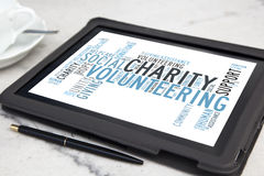 Charity word cloud Royalty Free Stock Photos
