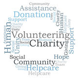 Charity word cloud Stock Photos