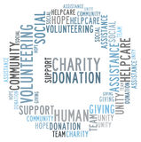 Charity word cloud Stock Photography