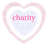 Charity Word Cloud Stock Image