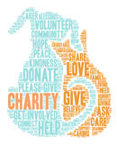 Charity Word Cloud Royalty Free Stock Images