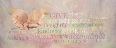 Charity Word Wall Banner Stock Photos