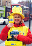 Charity Worker on the street Stock Image