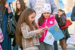 CHARKIW, UKRAINE - 18. MAI: Eine Sitzung zum Gedenken an Opfer des Genozids von Krim-Tataren Stockbilder