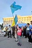 CHARKIW, UKRAINE - 18. MAI: Eine Sitzung zum Gedenken an Opfer des Genozids von Krim-Tataren Lizenzfreie Stockfotografie