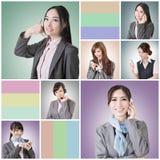 Charla de la mujer de negocios imagen de archivo libre de regalías