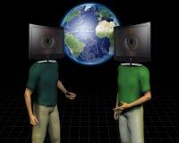Charla de los media del mundo Imagen de archivo