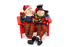 Charla de los muñecos de nieve Imagen de archivo