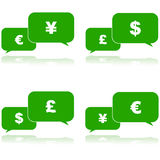 Charla del dinero ilustración del vector