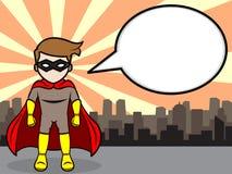 Charla del super héroe Imágenes de archivo libres de regalías