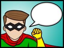 Charla del superhéroe Imagen de archivo libre de regalías