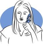 Charla del teléfono Fotografía de archivo