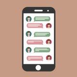 Charla del teléfono celular Imagen de archivo libre de regalías