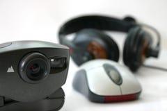 Charla del webcam Fotografía de archivo libre de regalías