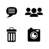 charla Iconos relacionados simples del vector Fotos de archivo libres de regalías