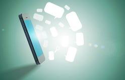 Charla móvil de la burbuja Fotos de archivo libres de regalías