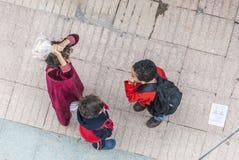 Charla marroquí de los niños Fotos de archivo