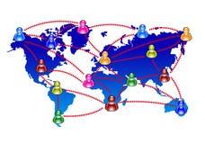 Charla y comunicación stock de ilustración