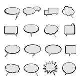 Charla y globos o burbujas de discurso ilustración del vector