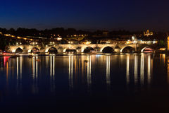 Charle's Bridge in Prague Royalty Free Stock Photos