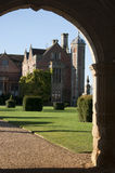 Charlecote Park through the archway. Charlecote Park in Warwickshire, england Stock Image
